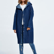 Load image into Gallery viewer, Big Size Denim Overcoat