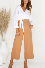 Load image into Gallery viewer, Surplice  Plain Casual Blouses