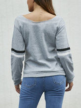 Load image into Gallery viewer, Round Neck Letter Print Long Sleeve T-Shirts