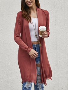 Solid Color Thin Section Long Sleeve Cardigan