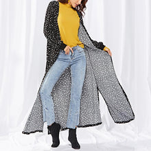 Load image into Gallery viewer, Point Stripe Knitted Long Cardigan