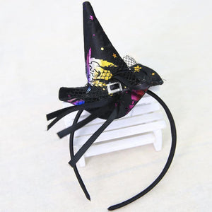 Halloween Witch Party Bow Lace Hair Hoop