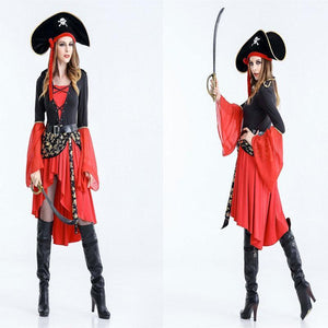 Halloween  Pirates Of The Caribbean Cosplay Show Suit