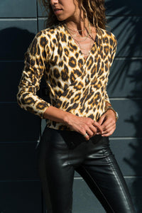 Surplice  Leopard Printed  T-Shirts