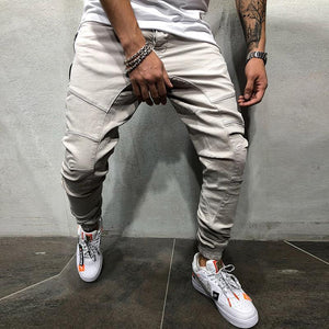 Fashion Mens Solid Color Loose Pants
