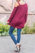 Load image into Gallery viewer, One Shoulder  Asymmetric Hem  Plain T-Shirts