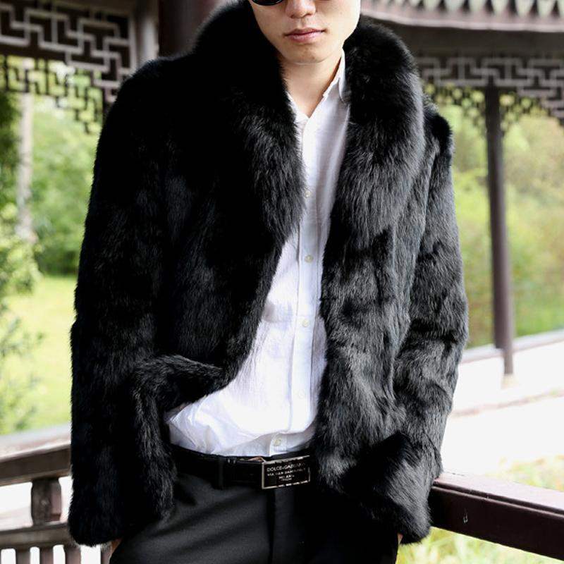 Faux Rabbit Fur   Thicken Coat