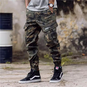 Men Loose Multi-Pocket Jogger Pants