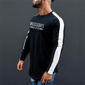 Casual Stylish Slim Print Long Sleeve Men Top