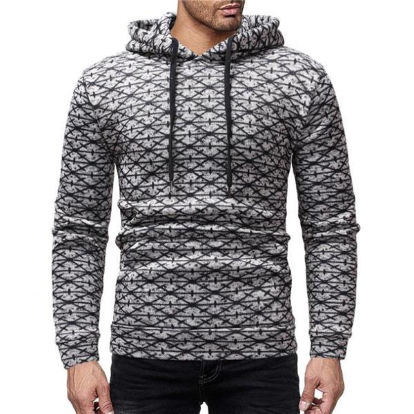 Casual Fashion Slim Long Sleeve Men Sport Hoodie