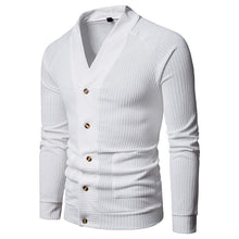 Load image into Gallery viewer, Fashion V Collar Plain Slim Button Knit Coat