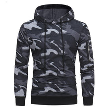 Load image into Gallery viewer, Fashion Slim Camouflage Printed Hoodie With Hat