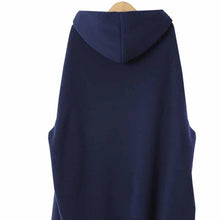 Load image into Gallery viewer, Hooded Long Sleeve Plain Asymmetrical Hem Fashion Blouse