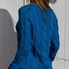 Load image into Gallery viewer, Plain Coloured Crochet Road Sweater