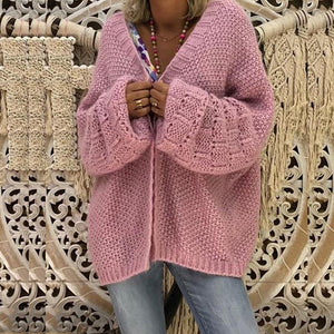 Sexy Hollow Bat Sleeve Knit Cardigan
