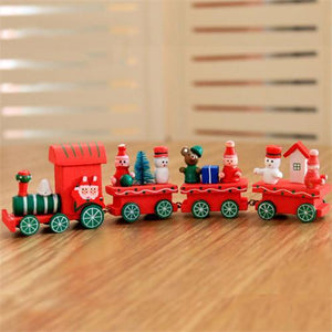 Christmas Wooden Mini Trains Kindergartenschristmas Gifts