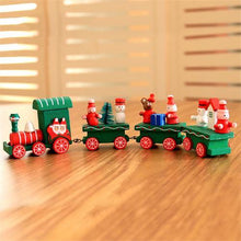 Load image into Gallery viewer, Christmas Wooden Mini Trains Kindergartenschristmas Gifts