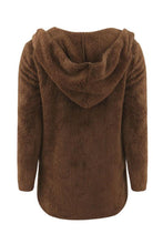 Load image into Gallery viewer, Hooded  Plain  Teddy Outerwear