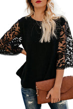 Load image into Gallery viewer, Round Neck  Lace Plain  Blouses