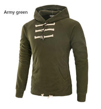 Load image into Gallery viewer, Casual Plain Slim Ox Horh Button Irregular Hoodie
