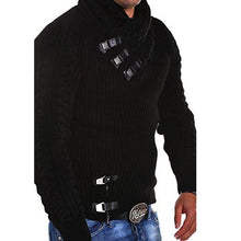 Load image into Gallery viewer, Explosive Men's Leather Button Sweater