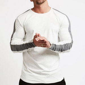 Colorblock Curved Hem T-Shirt