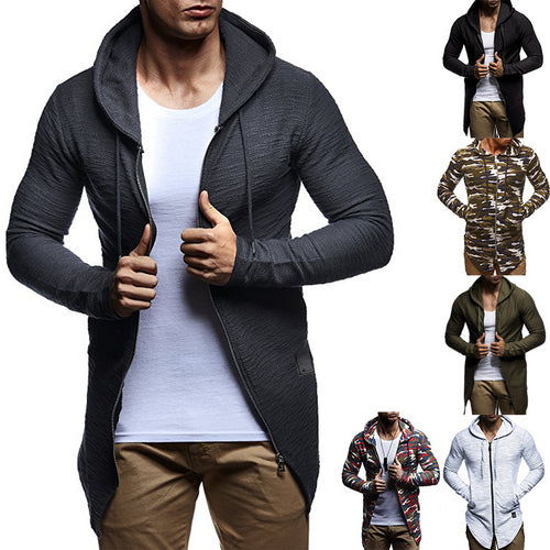 Men's Fashion Long Hooded Cardigans