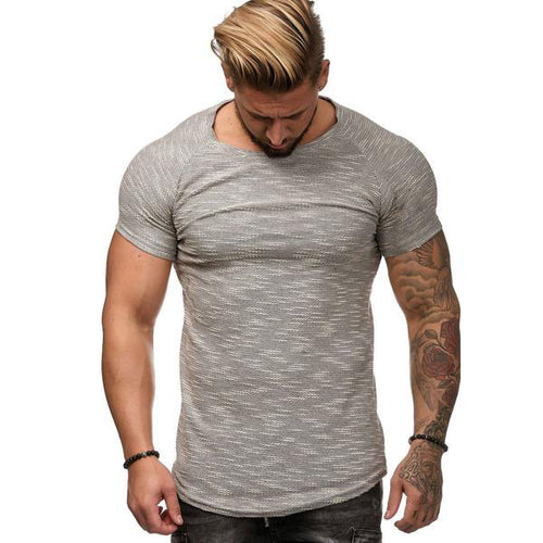 Fashion Round Collar Plain Slim Sport Shirt
