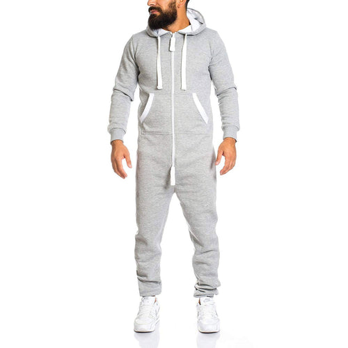 Casual Plain Slim Zipper Sport Outdoor Jumpsuit