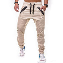 Load image into Gallery viewer, High Street Striped Pleated Zipper Stitching Sweatpants