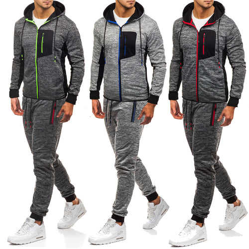 Hooded Sweater Casual Pants Wei Pants Suit