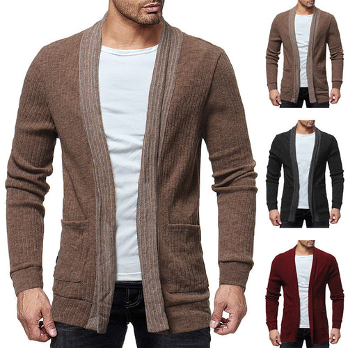 Fashion Patchwork Casual Men's Cardigan