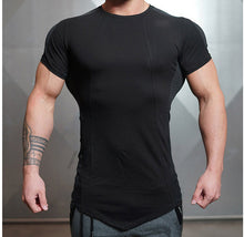 Load image into Gallery viewer, Men's Patchwork Style Casual Shorts Sleeve T-Shirts