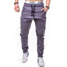 Load image into Gallery viewer, Men's Side Pocket Rope Elasticated Belt Casual Pants