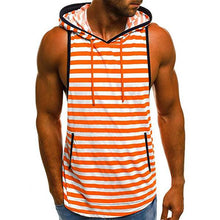 Load image into Gallery viewer, Oversize Beach Colorblock Striped Hooded Vest