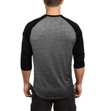 Load image into Gallery viewer, Round Collar Contrasting Color Three-Quarter Sleeve T-Shirt