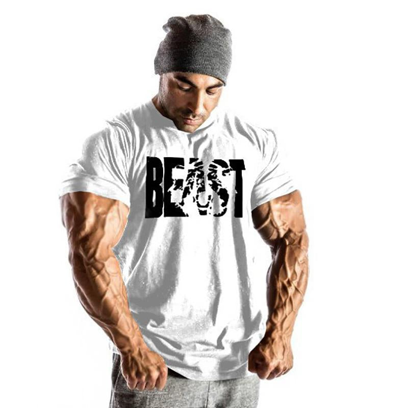 Fitness Sports T-Shirt Cotton   Top Short Sleeve