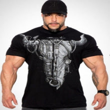 Load image into Gallery viewer, Cotton Round Neck Fitness   Short-Sleeved T-Shirt