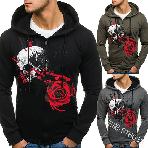 New In Printed Style Men's Casual Hoodie