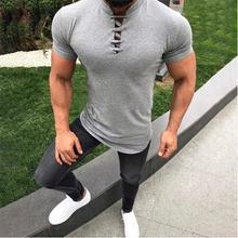 Load image into Gallery viewer, Men's Fashion Stand Collar Short Sleeve T-Shirt