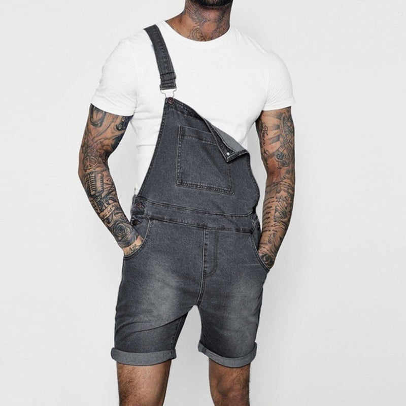 218cf200f6 ... Load image into Gallery viewer, New Fashion Men's Sling Denim  Overalls ...