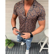 Load image into Gallery viewer, Men's Fashion Floral Short Sleeve Shirt