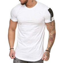 Load image into Gallery viewer, Men's Shoulder Bags Splicing Large Size Casual Sports T-Shirt