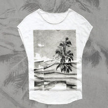 Load image into Gallery viewer, Printed Round Neck Sleeveless Beach T-Shirt