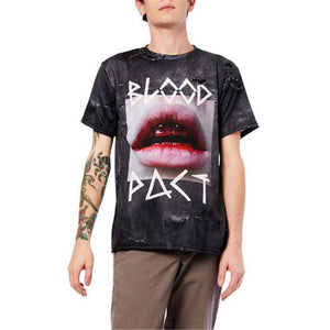 Round Neck Printed Loose Unisex Short Sleeves T-Shirt