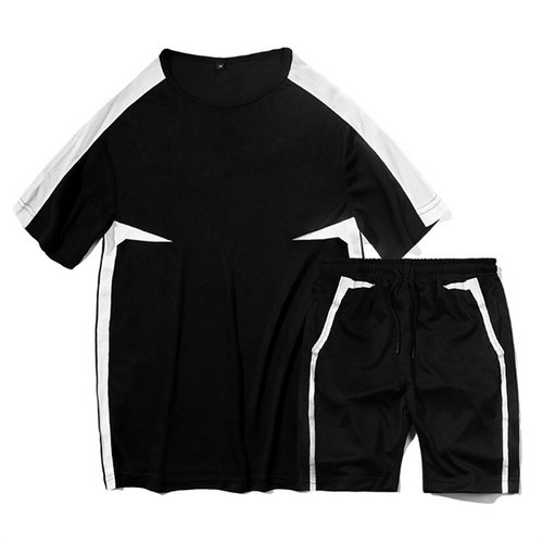 Sport Fashion Colorblock Mesh Breathable Tracksuit