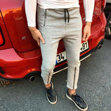 Load image into Gallery viewer, Men's Jogging Pants Slim Casual Foot Zipper Trousers