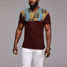 Load image into Gallery viewer, Fashion Splicing Printed V Neck Tee