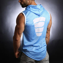 Load image into Gallery viewer, Sporty Slim Fit Printed Hooded Vest