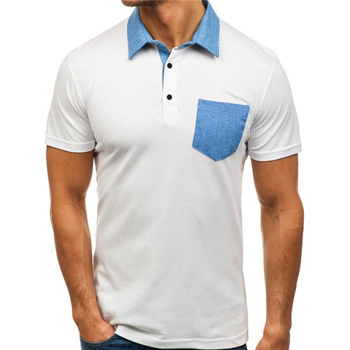Pocket Color Matching Casual Short-sleeved Shirts
